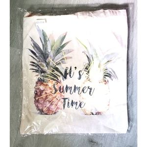 ECO It's Summer Time Canvas Tote NWT